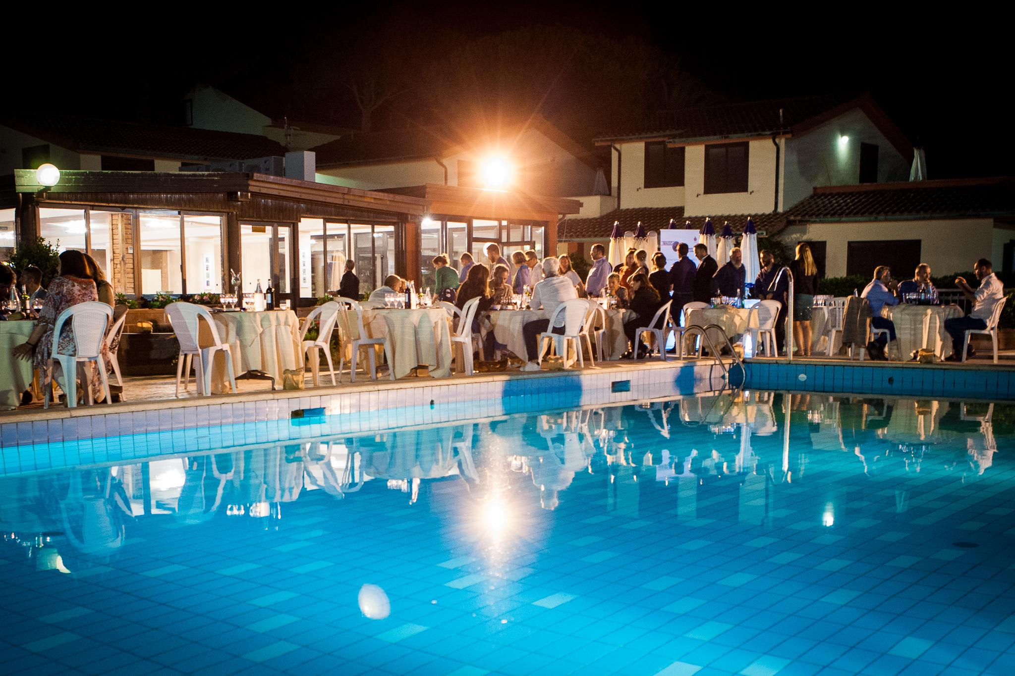 Serata di gala piscina
