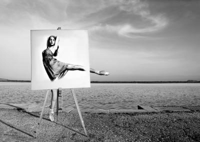 Painted arabesque