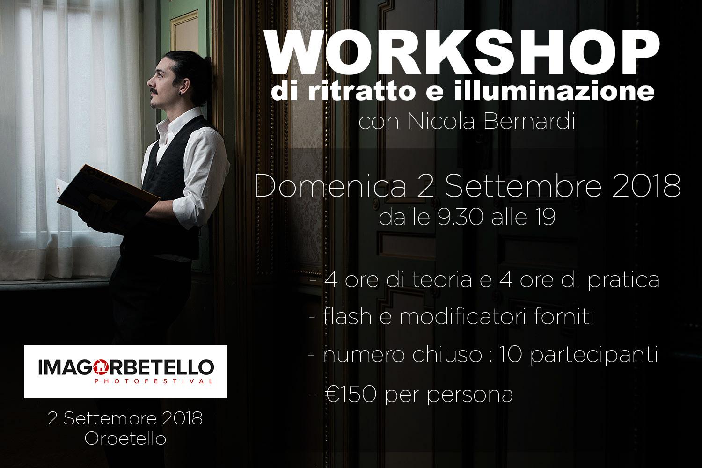 Workshop di ritratto e illuminazione con nicola bernardi